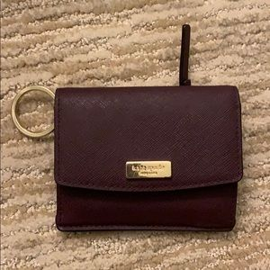 Kate Spade mini wallet - deep purple